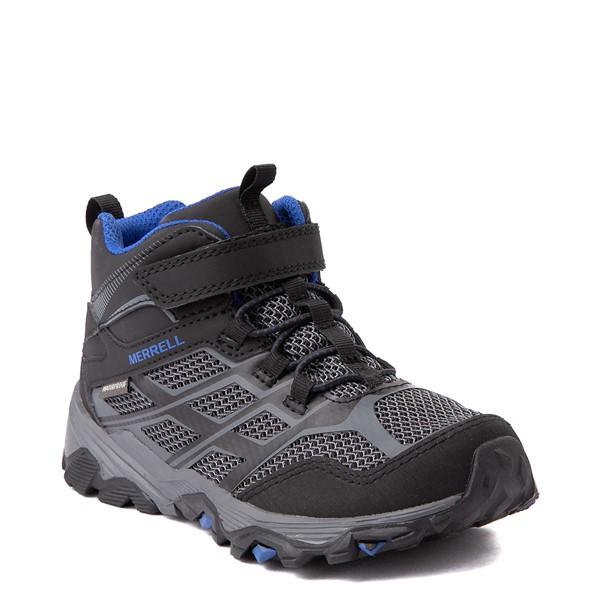 alternate view Merrell Moab FST Mid A/C Hiker Boot - Little Kid / Big Kid - Black / RockALT5