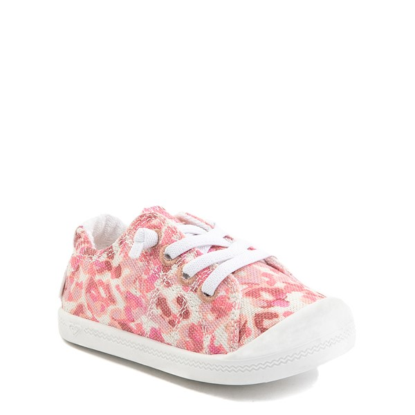 alternate view Roxy Bayshore Casual Shoe - Toddler - Pink LeopardALT1