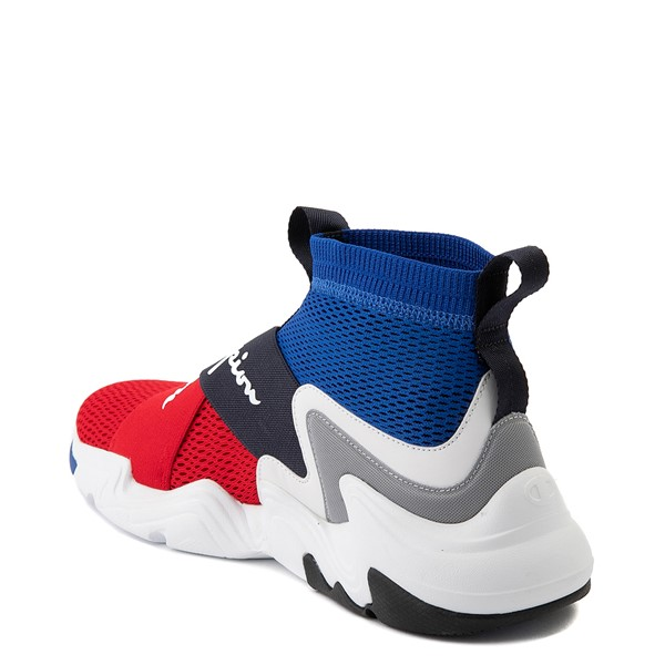 alternate view Mens Champion Hyper C X Athletic Shoe - Blue / Red / WhiteALT1
