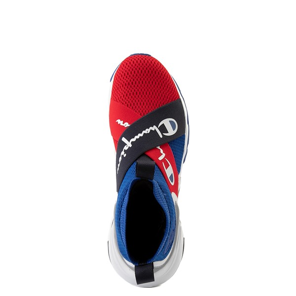 alternate view Mens Champion Hyper C X Athletic Shoe - Blue / Red / WhiteALT2