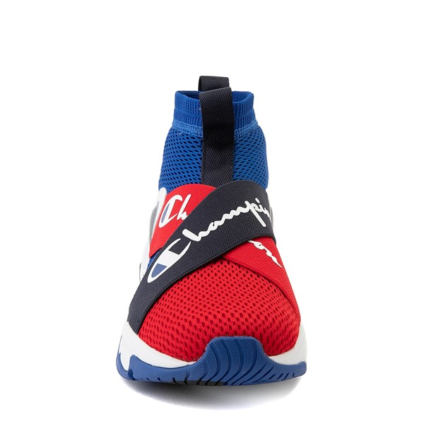 alternate view Mens Champion Hyper C X Athletic Shoe - Blue / Red / WhiteALT4