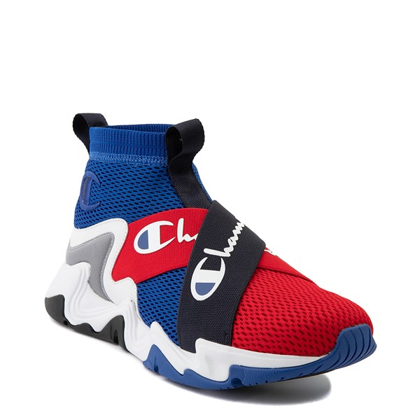 alternate view Mens Champion Hyper C X Athletic Shoe - Blue / Red / WhiteALT5