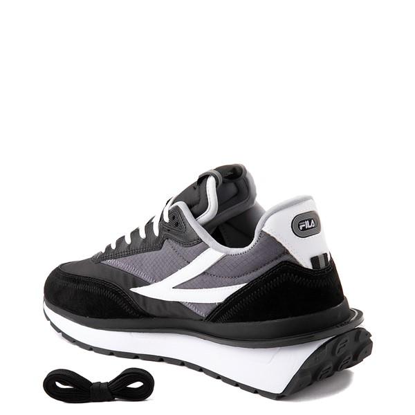 alternate view Mens Fila Renno Athletic Shoe - Black / GrayALT1
