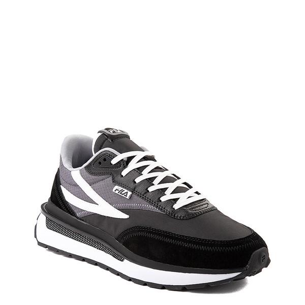 alternate view Mens Fila Renno Athletic Shoe - Black / GrayALT5