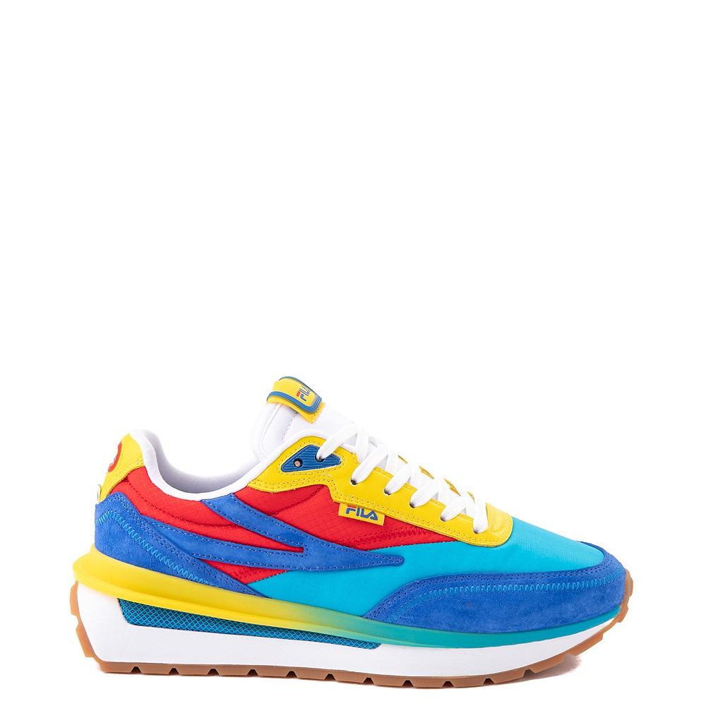 Womens Fila Renno Athletic Shoe - Atomic Blue / Prince Blue / Fiery Red