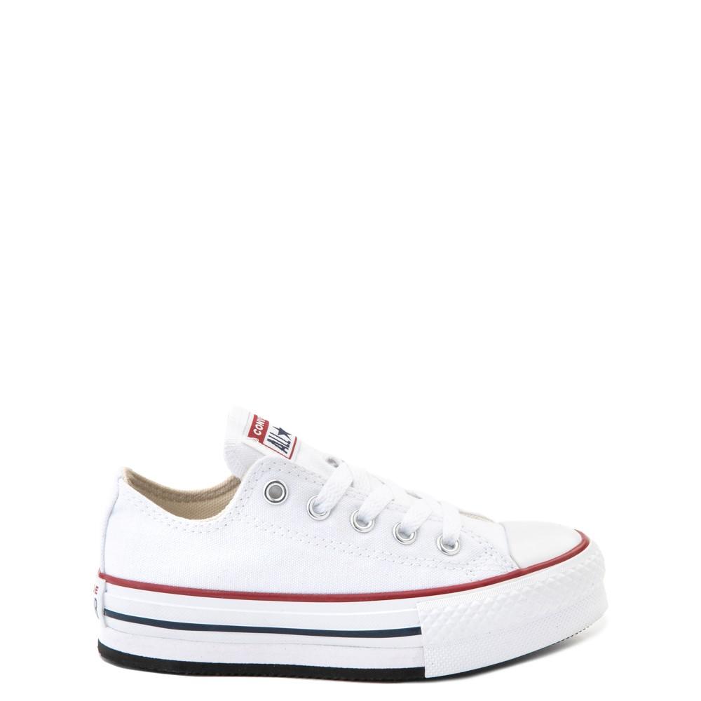Converse Chuck Taylor All Star Lo Platform Sneaker - Little Kid / Big Kid - White