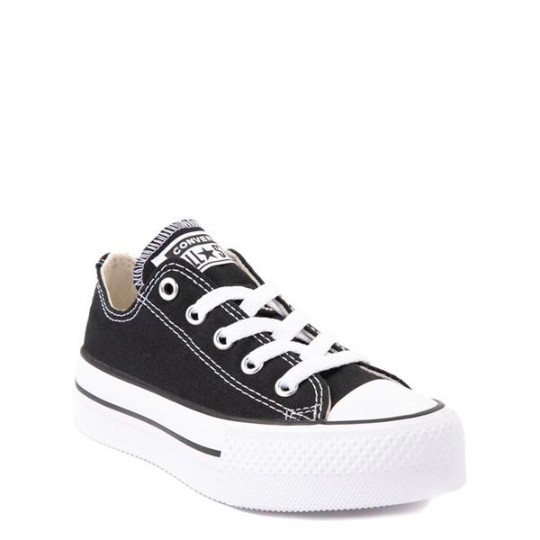 alternate view Converse Chuck Taylor All Star Lo Platform Sneaker - Little Kid / Big Kid - BlackALT5
