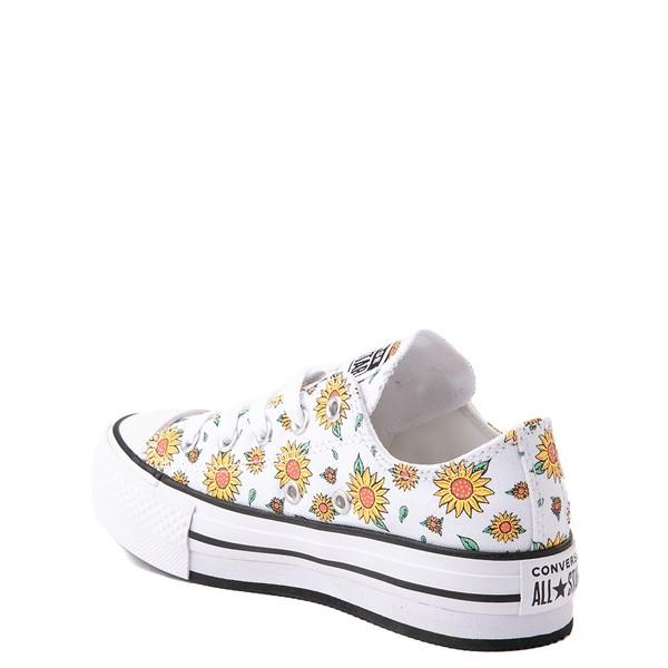 alternate view Converse Chuck Taylor All Star Lift Lo Sneaker - Little Kid / Big Kid - White / FloralALT1