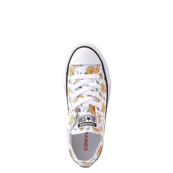 alternate view Converse Chuck Taylor All Star Lift Lo Sneaker - Little Kid / Big Kid - White / FloralALT2