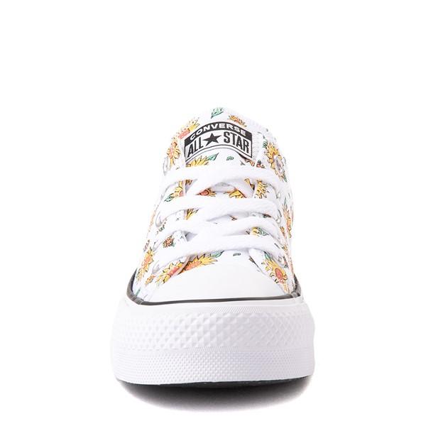alternate view Converse Chuck Taylor All Star Lift Lo Sneaker - Little Kid / Big Kid - White / FloralALT4