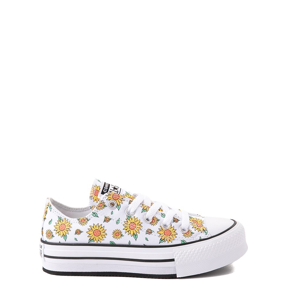 Converse Chuck Taylor All Star Lift Lo Sneaker - Little Kid / Big Kid - White / Floral