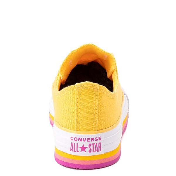 alternate view Converse Chuck Taylor All Star Lift Lo Sneaker - Little Kid / Big Kid - Citron PulseALT4