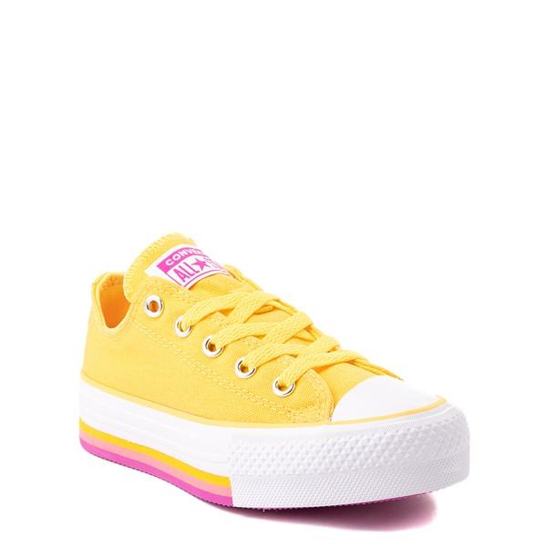 alternate view Converse Chuck Taylor All Star Lift Lo Sneaker - Little Kid / Big Kid - Citron PulseALT5