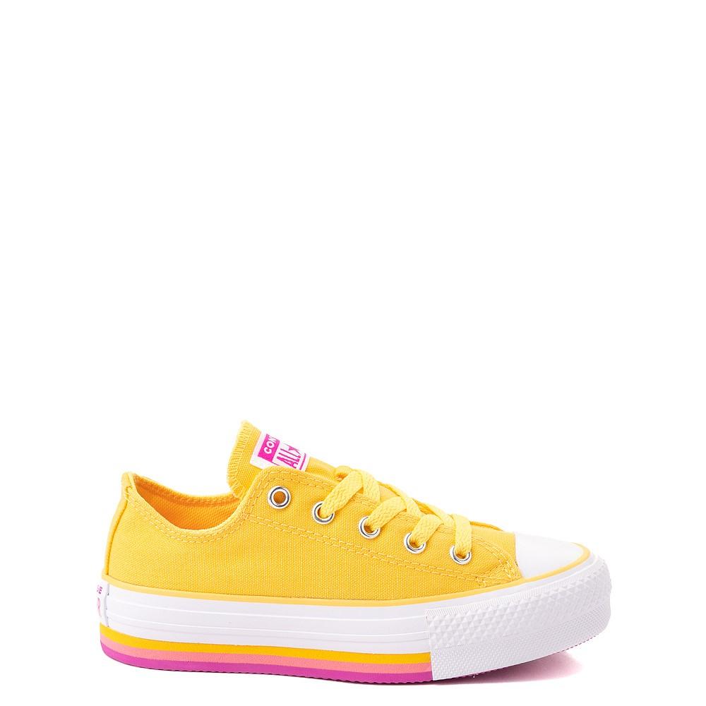 Converse Chuck Taylor All Star Lift Lo Sneaker - Little Kid / Big Kid - Citron Pulse