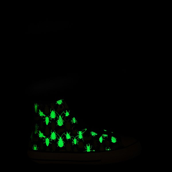 alternate view Converse Chuck Taylor All Star Hi Glow Bugs Sneaker - Little Kid / Big Kid - BlackALT1