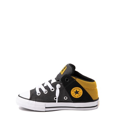 Alternate view of Converse Chuck Taylor All Star Axel Mid Sneaker - Little Kid / Big Kid - Black / Gold