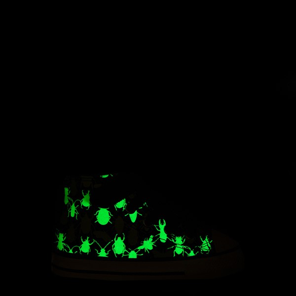 alternate view Converse Chuck Taylor All Star 1V Hi Glow Bugs Sneaker - Baby / Toddler - BlackALT1