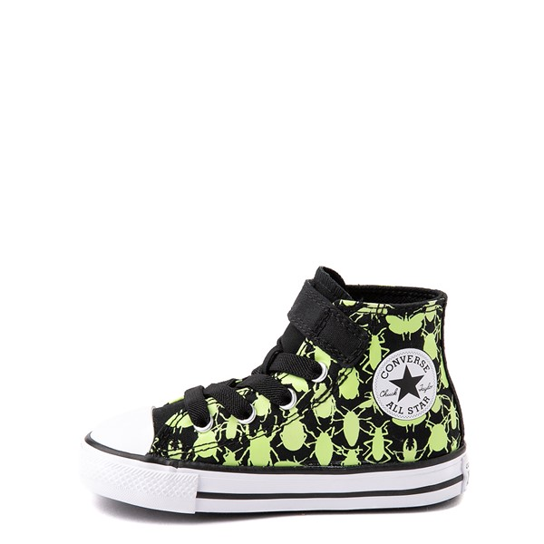 alternate view Converse Chuck Taylor All Star 1V Hi Glow Bugs Sneaker - Baby / Toddler - BlackALT1B