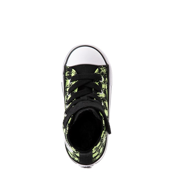 alternate view Converse Chuck Taylor All Star 1V Hi Glow Bugs Sneaker - Baby / Toddler - BlackALT2