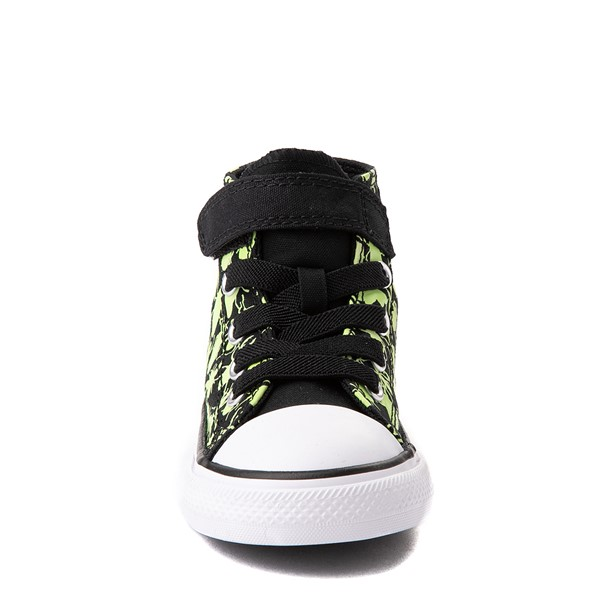 alternate view Converse Chuck Taylor All Star 1V Hi Glow Bugs Sneaker - Baby / Toddler - BlackALT4