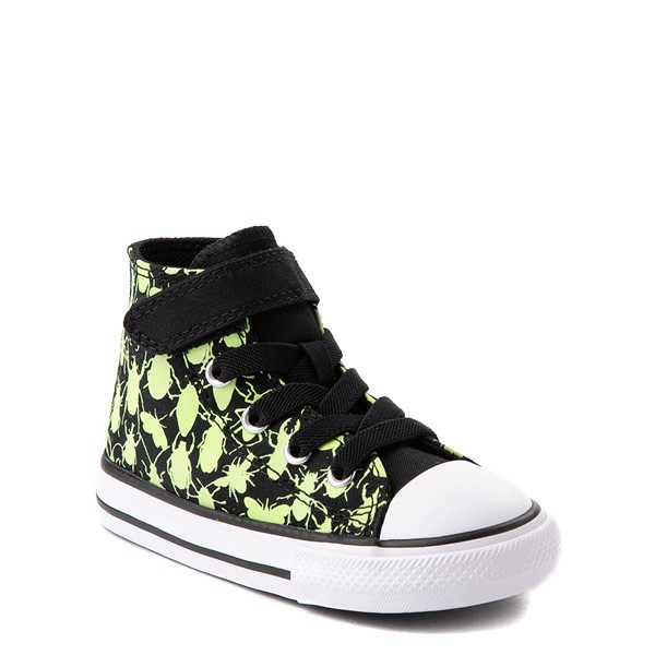 alternate view Converse Chuck Taylor All Star 1V Hi Glow Bugs Sneaker - Baby / Toddler - BlackALT5