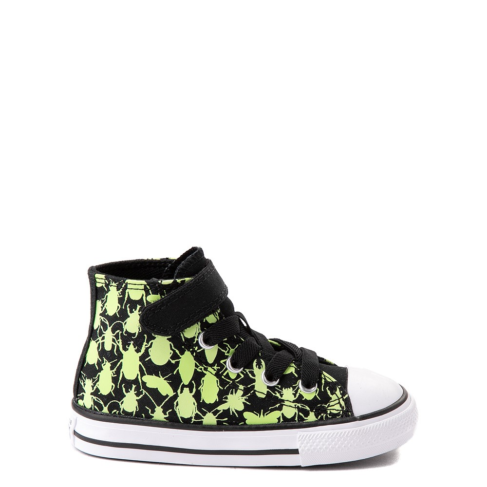 Converse Chuck Taylor All Star 1V Hi Glow Bugs Sneaker - Baby / Toddler - Black