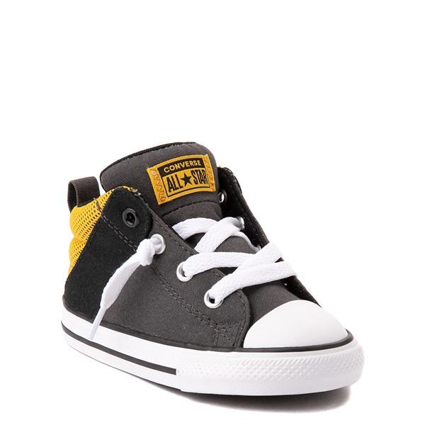 alternate view Converse Chuck Taylor All Star Axel Mid Sneaker - Baby / Toddler - Black / GoldALT5