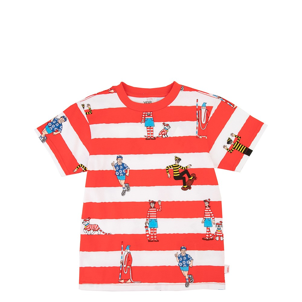 Vans x Where's Waldo Stripe Tee - Toddler - Racing Red