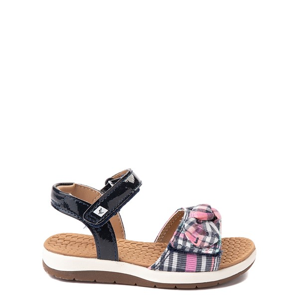 Main view of Sperry Top-Sider Galley Sandal - Toddler / Little Kid - Navy / Pink Plaid