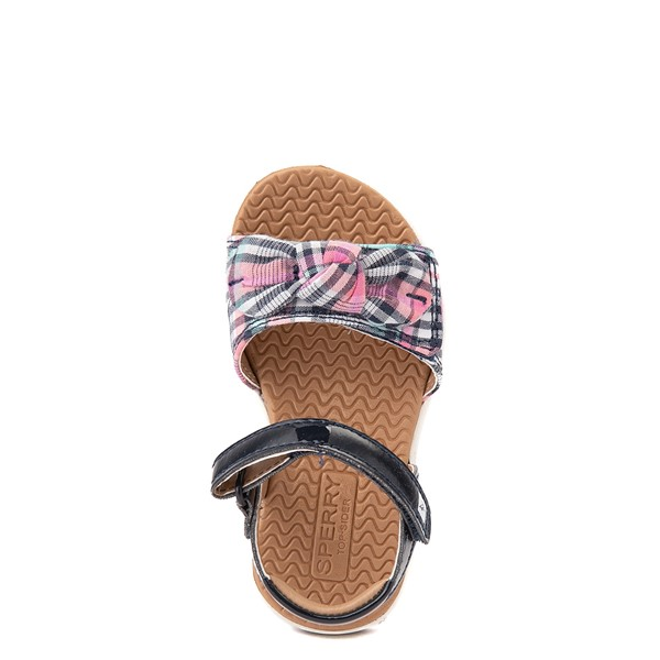 alternate view Sperry Top-Sider Galley Sandal - Toddler / Little Kid - Navy / Pink PlaidALT2