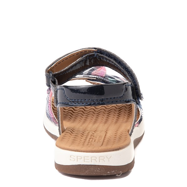 alternate view Sperry Top-Sider Galley Sandal - Toddler / Little Kid - Navy / Pink PlaidALT4