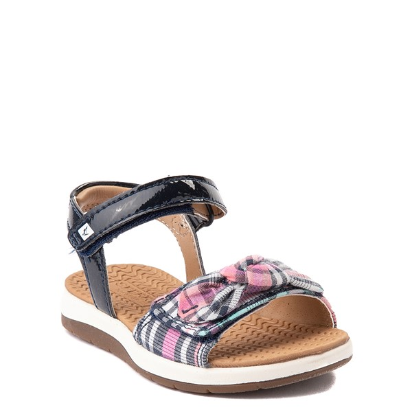alternate view Sperry Top-Sider Galley Sandal - Toddler / Little Kid - Navy / Pink PlaidALT5