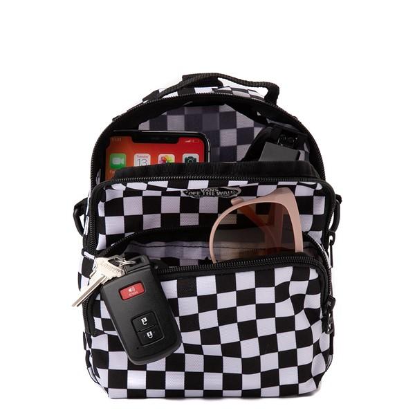 alternate view Vans Warped Checkerboard Mini Backpack - Black / WhiteALT1
