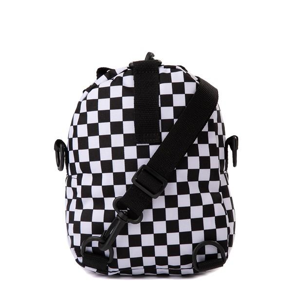 alternate view Vans Warped Checkerboard Mini Backpack - Black / WhiteALT2