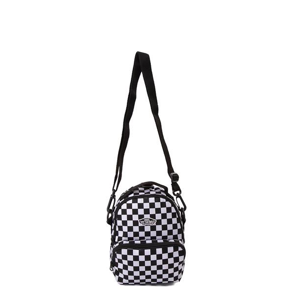 alternate view Vans Warped Checkerboard Mini Backpack - Black / WhiteALT3B
