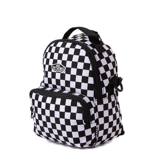 alternate view Vans Warped Checkerboard Mini Backpack - Black / WhiteALT4