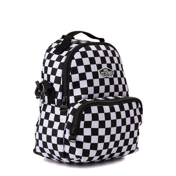 alternate view Vans Warped Checkerboard Mini Backpack - Black / WhiteALT4B