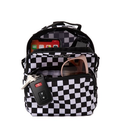 Alternate view of Vans Warped Checkerboard Mini Backpack - Black / White
