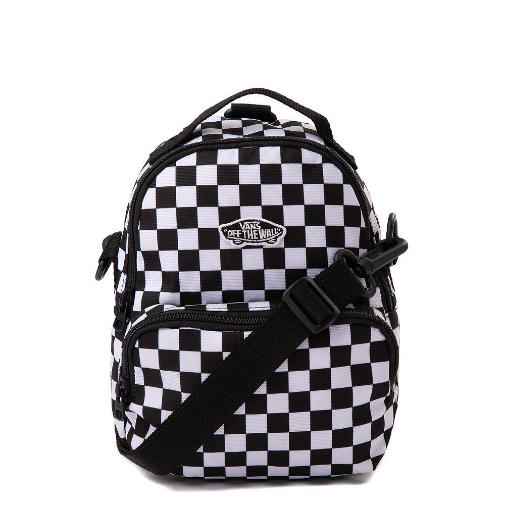 Vans Warped Checkerboard Mini Backpack - Black / White