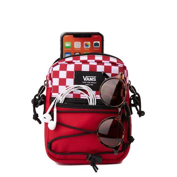 alternate view Vans Bail Checkerboard Shoulder Bag - Chili Pepper / WhiteALT1