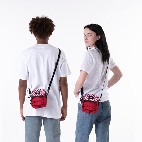 alternate view Vans Bail Checkerboard Shoulder Bag - Chili Pepper / WhiteALT1BADULT