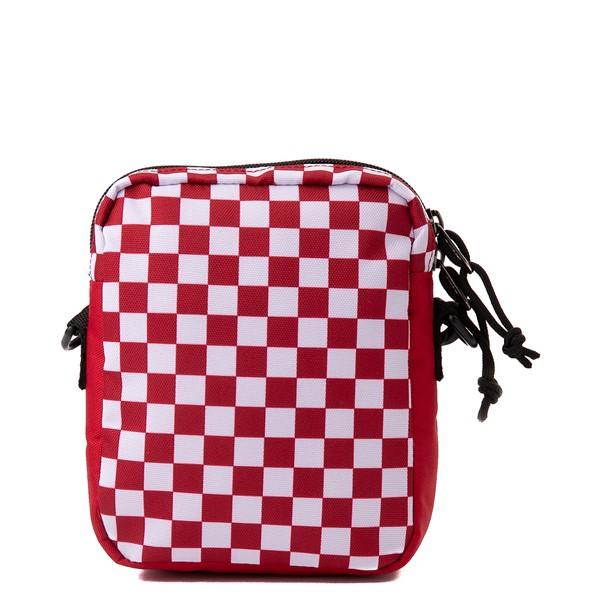 alternate view Vans Bail Checkerboard Shoulder Bag - Chili Pepper / WhiteALT2
