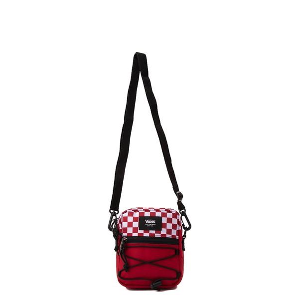 alternate view Vans Bail Checkerboard Shoulder Bag - Chili Pepper / WhiteALT3B