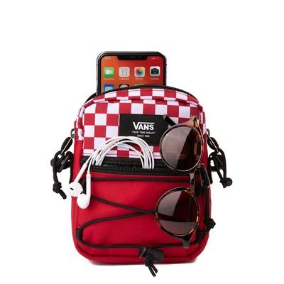 Alternate view of Vans Bail Checkerboard Shoulder Bag - Chili Pepper / White