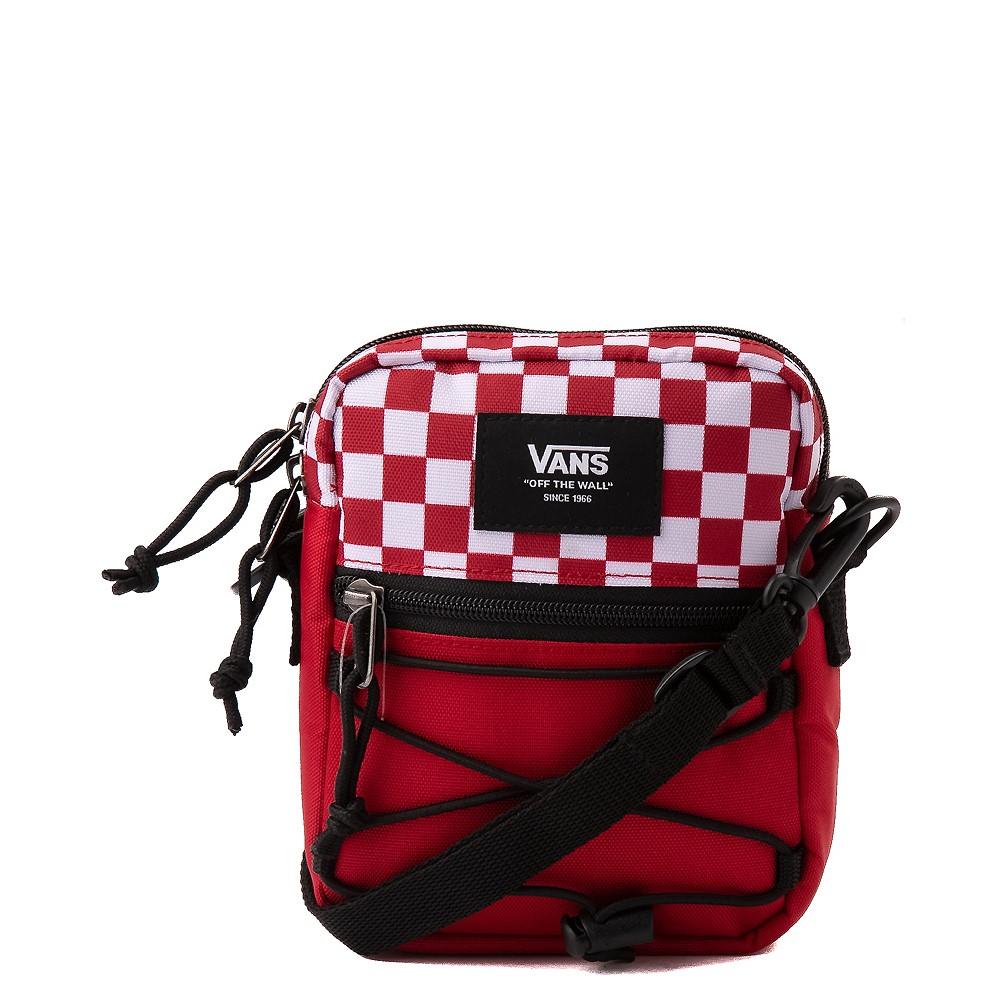 Vans Bail Checkerboard Shoulder Bag - Chili Pepper / White