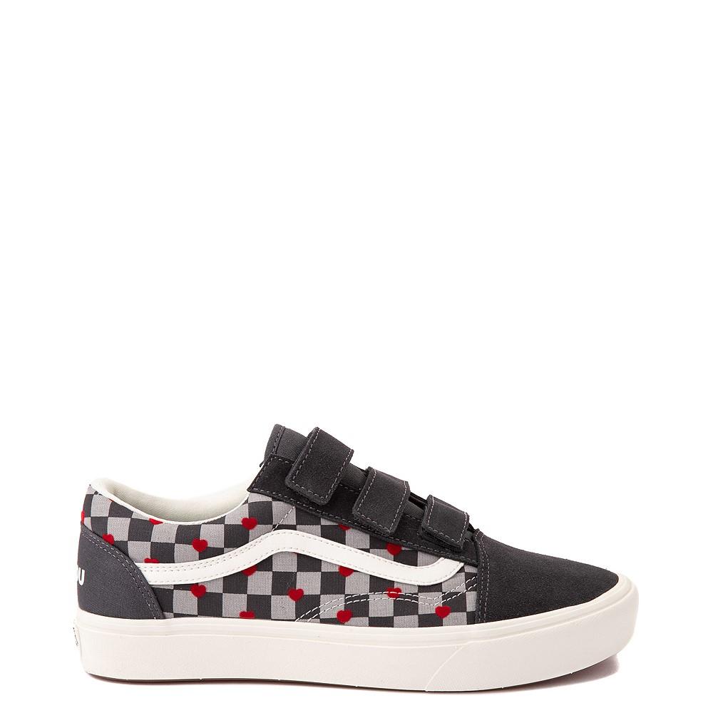 Vans Old Skool V ComfyCush® Autism Acceptance Checkerboard Skate Shoe - Asphalt