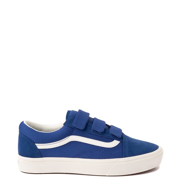Main view of Vans Old Skool V ComfyCush® Autism Acceptance Checkerboard Skate Shoe - True Blue