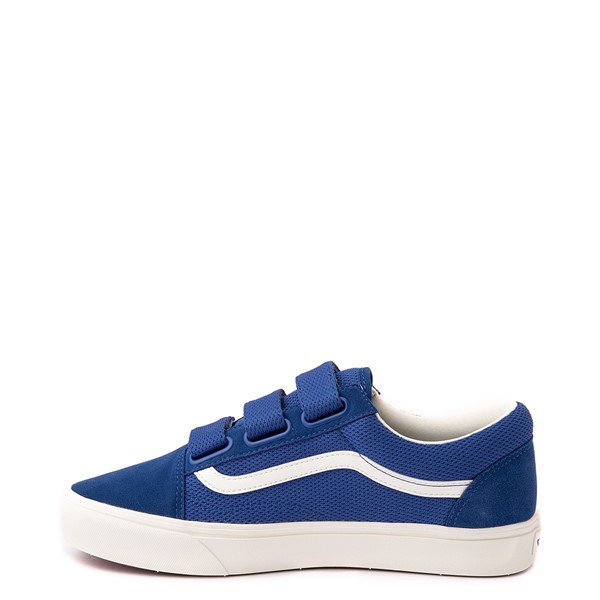 alternate view Vans Old Skool V ComfyCush® Autism Acceptance Checkerboard Skate Shoe - True BlueALT1