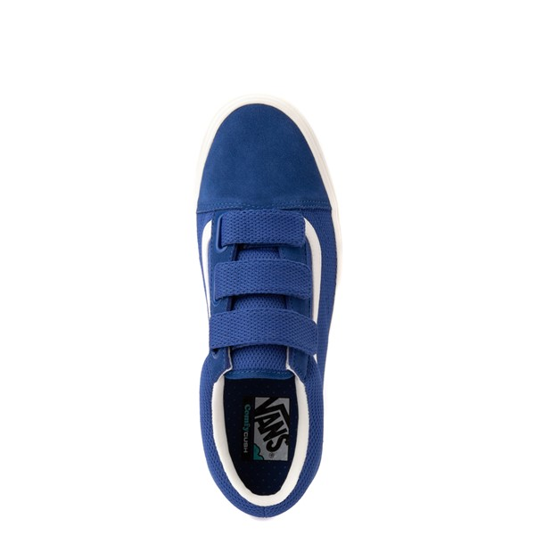 alternate view Vans Old Skool V ComfyCush® Autism Acceptance Checkerboard Skate Shoe - True BlueALT2