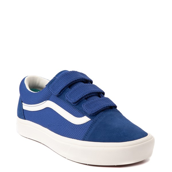 alternate view Vans Old Skool V ComfyCush® Autism Acceptance Checkerboard Skate Shoe - True BlueALT5